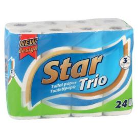 Star toalettpapír 90 Premium kistekercses (3r., hófehér, 90lap, 24tek/csg, 4csg/#)