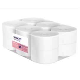 Harmony toalettpapír mini Jumbo 19cm-es, 2r., fehér, 120m/tek, 12tek/#