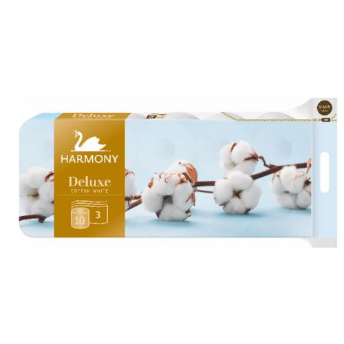 Harmony toalettpapír kistekercses (3r., hófehér, 150lap/tek, 10tek/csg, 6csg/#)