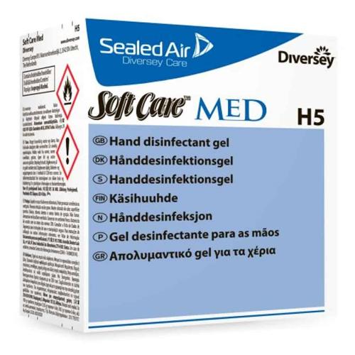 Soft Care Med alkoholtartalmú kézfertőtlenítő gél 800ml (6db/#)