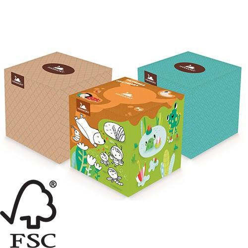 Harmony kozmetikai kendő kocka, 3r., 60lap/doboz, 12doboz/#