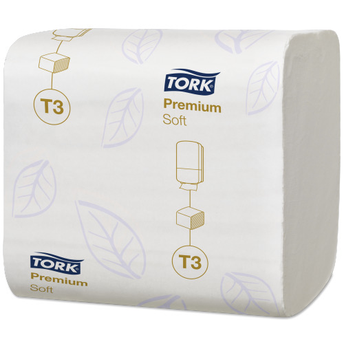 Tork toalettpapír T3, hajtogatott Premium soft, 2r., fehér, 252lap/csg, 30csg/#