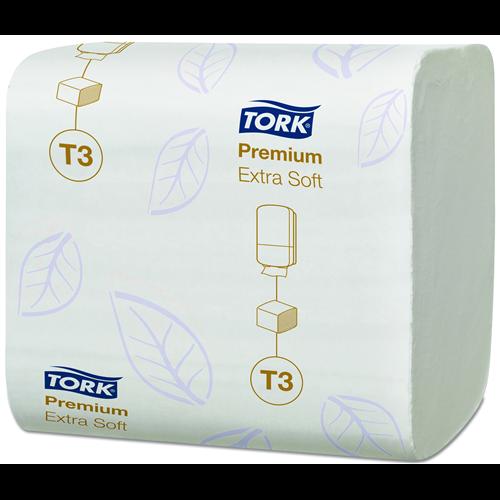 Tork toalettpapír T3, hajtogatott Extra soft folded, 2r., fehér, 252lap/csg, 30csg/#