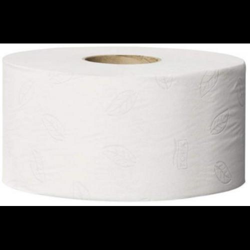 Tork toalettpapír T2 mini Jumbo Advanced szürke levélmintával  - 2r., fehér, 170m/tek, 12tek/#