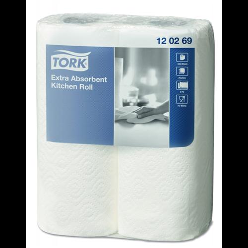 Tork konyhai törlőpapír Premium fehér, 15,4m/tek, 2tek/csg, 12csg/#