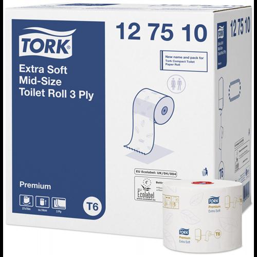 Tork toalettpapír T6 kompakt Advanced T6, 3r., extra fehér, 70m/tek, 27tek/#