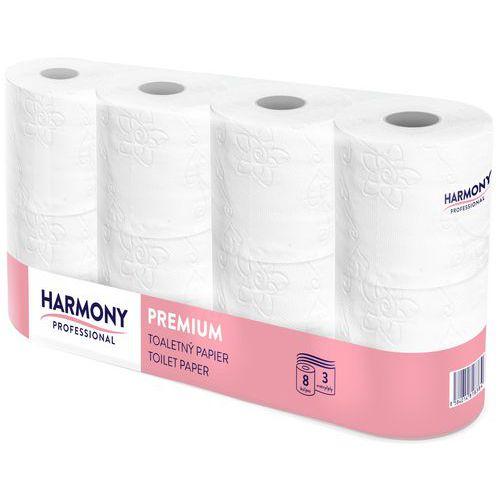 Harmony toalettpapír kistekercses (3r., hófehér, 250lap/tek, 8tek/csg, 7csg/#)