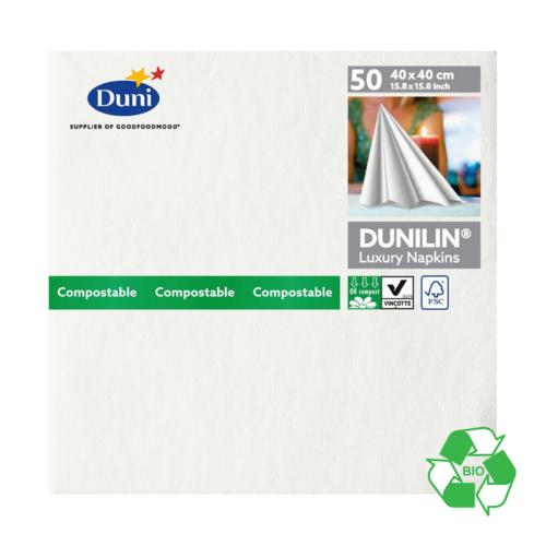 Duni Dunilin szalvéta WHITE, 40X40, 45db/csg, 12csg/#