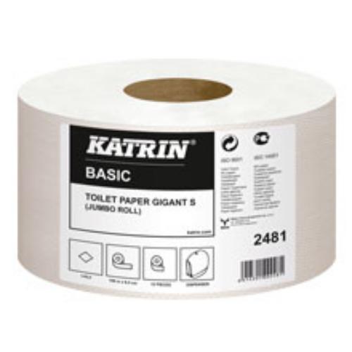 Katrin toalettpapír Basic Gigant S, 1r., natúr, 150m/tek, 12 tek/#