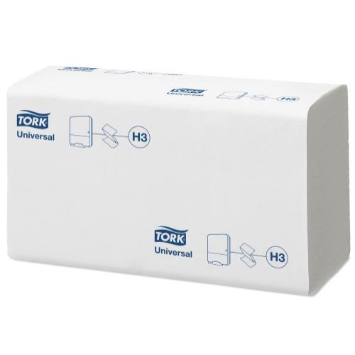 Tork kéztörlő H3 Z hajtogatású Singlefold Universal - 1r., fehér, 300 lap/csg, 15 csg/#