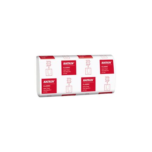 Katrin kéztörlő Classic Interfold 2r., fehér, 160lap/csg, 21csg/#