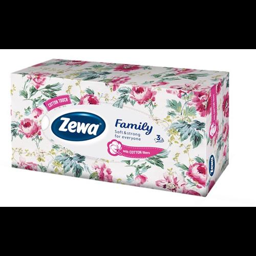 Zewa dobozos papírzsebkendő 3r., 90db/doboz, 18doboz/#