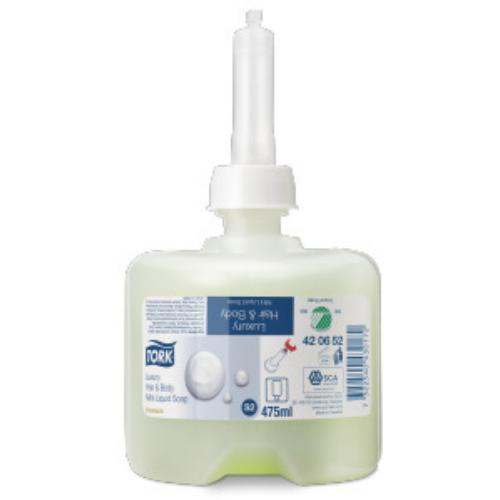 Tork folyékony szappan S2 Premium pipere mini luxus, 0,475ml/db, 8db/#