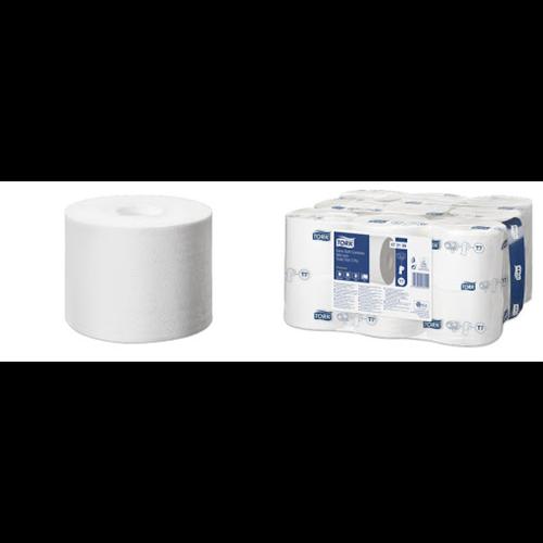 Tork toalettpapír T7 Extra Soft belsőmag nélküli Mid-Size toalettpapír 3r., fehér, 68,75m/tek, 18tek/#