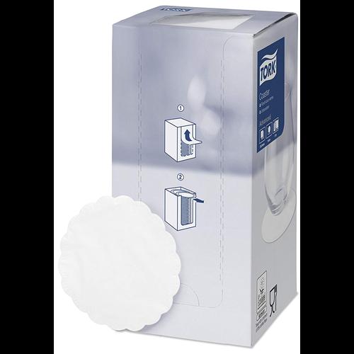 Tork poháralátét fehér, 8r., pcm, 250db/csg, 12csg/#