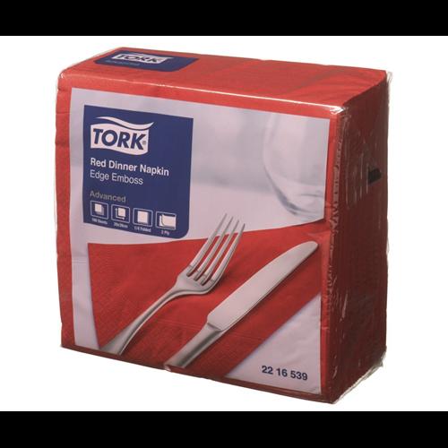 Tork szalvéta Dinner Advanced 39X39, PIROS, 150 lap/csg, 12csg/#