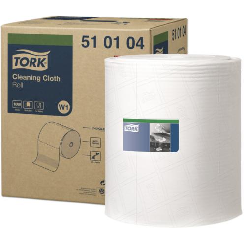 Torktisztítókendő W1 tekercses Premium, 1r., fehér, 380m/tek, 1000lap/tek