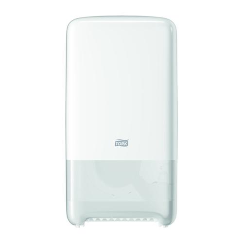 Tork adagoló toalettpapír T6 , duplatekercses Mid-size, ütésálló műanyag, fehér