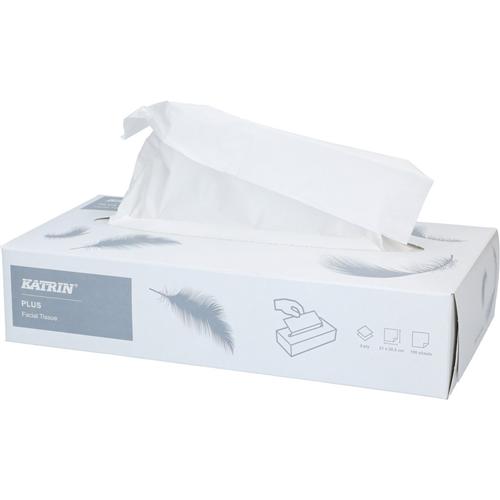 Katrin kozmetikai kendő, 2r., extra fehér, 100lap/doboz, 40doboz/#