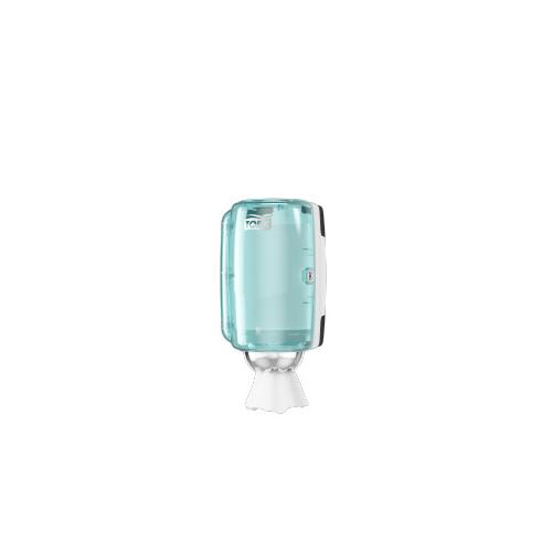 Tork adagoló M1 belsőmag adagolású tekercsekhez, mini - ütésálló műanyag, fehér, türkiz