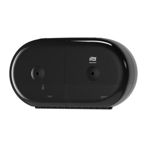 Tork adagoló toalettpapír T9 SmartOne mini duplatekercses - ütésálló műanyag, fekete