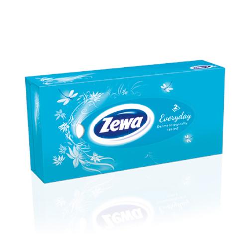 Zewa dobozos papírzsebkendő 2r., 100db/doboz, 21doboz/#