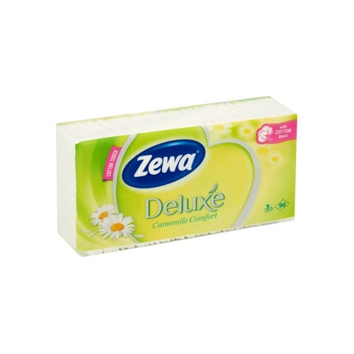 Zewa zsebkendő 90DB/CSG, 3r., 40csg/# Camomile comfort
