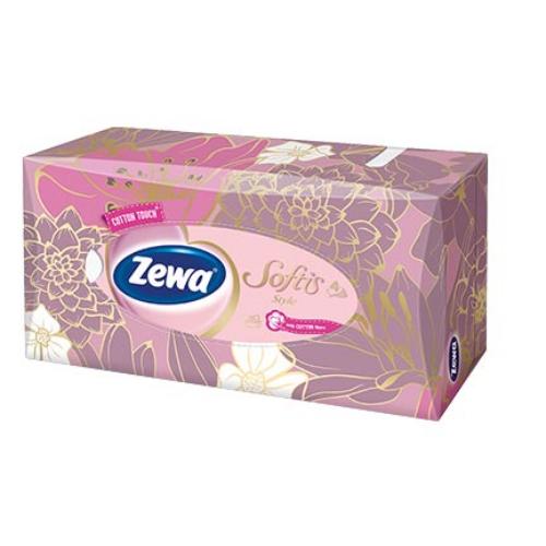 Zewa dobozos papírzsebkendő 4r., 80db/doboz, 18doboz/#