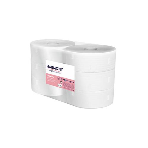 Harmony toalettpapír Jumbo 24cm-es, 2r., fehér, 195m/tek, 6tek/#