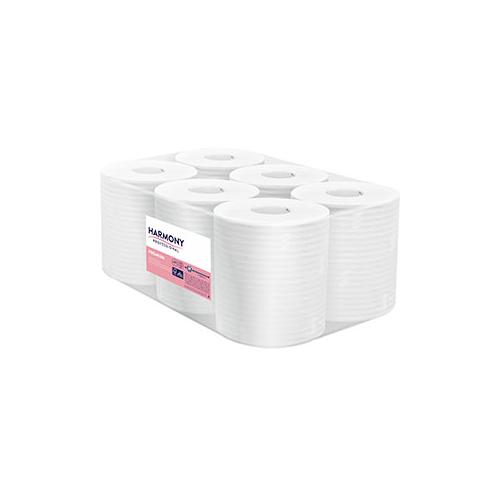 Harmony tekercses törlő 2r., fehér, 125m/tek, 6tek/#