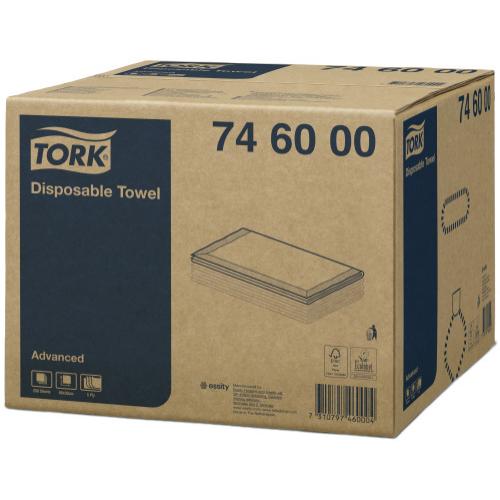Tork ipari törlőkendő eldobható Salon 5r. 70X30cm, 250db/#