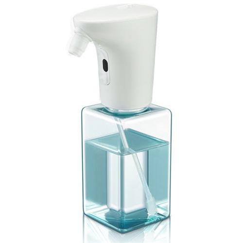Szenzoros spray szappan és fertőtlenítőszer adagoló, asztali, beépített akkumulátorral utántölthető 450ml