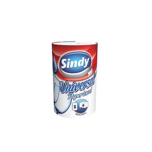 Sindy tekercses törlő fehér, 2r., 70m/tek, 12tek/#