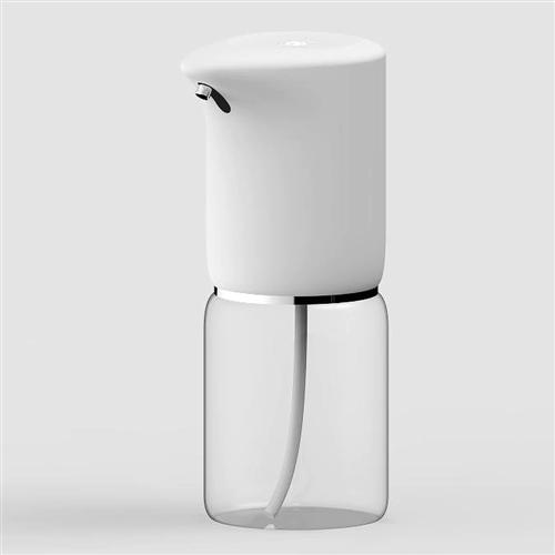 Szenzoros spray szappan és fertőtlenítő adagoló, asztali, beépített akkumulátorral, 400ml